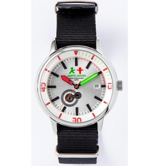 お取り寄せ【北海道・沖縄・離島配送不可】AMT-4975-02 腕時計 AMPELMANN アンペルマン オートマ ラウンド シルバー AMT497502