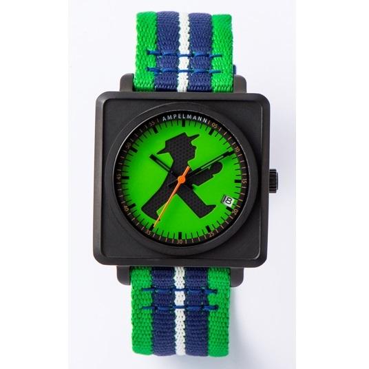 【お取り寄せ】APR-4971-12 腕時計 AMPELMANN アンペルマン オートマ スクエア グリーン APR497112【送料無料(北海道1000円沖縄2000円別途加算)】