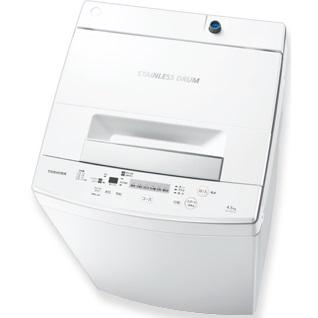 【時間指定不可】【離島配送不可】AW-45M7-W 全自動洗濯機 TOSHIBA 東芝 洗濯・脱水容量4.5kg AW45M7W ピュアホワイト 【送料無料(北海道1000円沖縄10000円別途加算)】