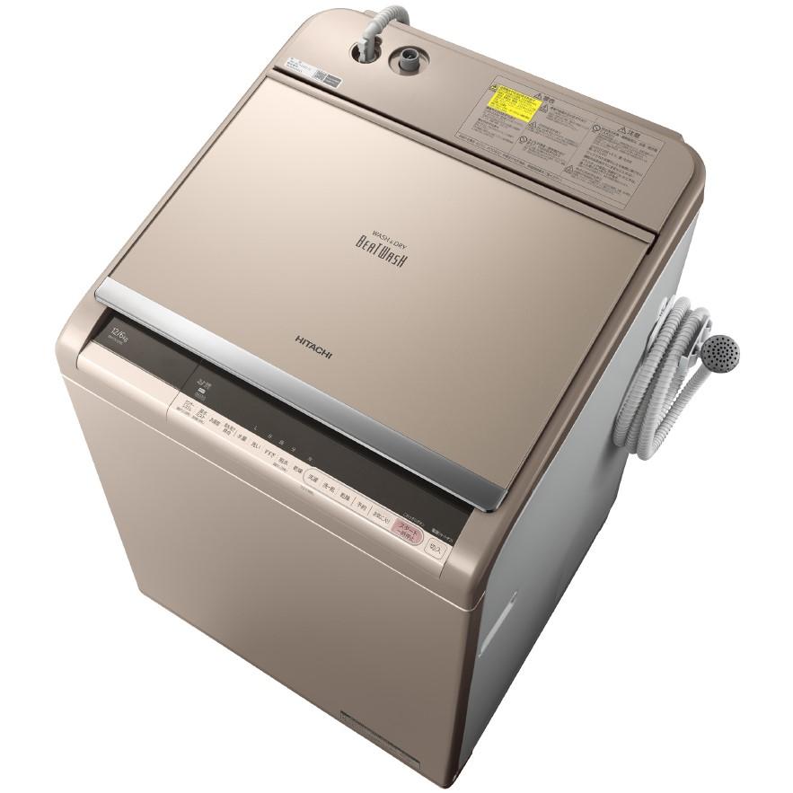 【日時指定不可】【離島配送不可】BW-DV120C-N 洗濯乾燥機 HITACHI 日立 ビートウォッシュ 洗濯・脱水容量12kg 洗濯~乾燥・乾燥容量6kg BWDV120CN シャンパン 【送料無料(北海道3000円沖縄4000円別途加算)】