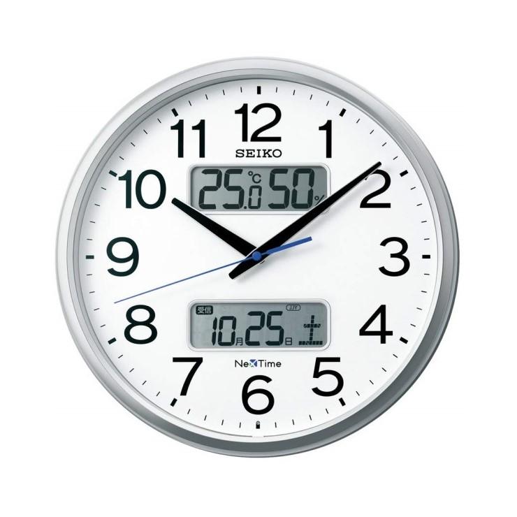 お取り寄せ ZS250S 電波掛時計 SEIKO セイコー ネクスタイム 銀色メタリック 壁掛け時計 電波時計 電波掛け時計 電波掛時計 壁掛時計 かけ時計 壁掛け電波時計 電波壁掛け【送料無料(北海道1000円沖縄2000円別途加算)】