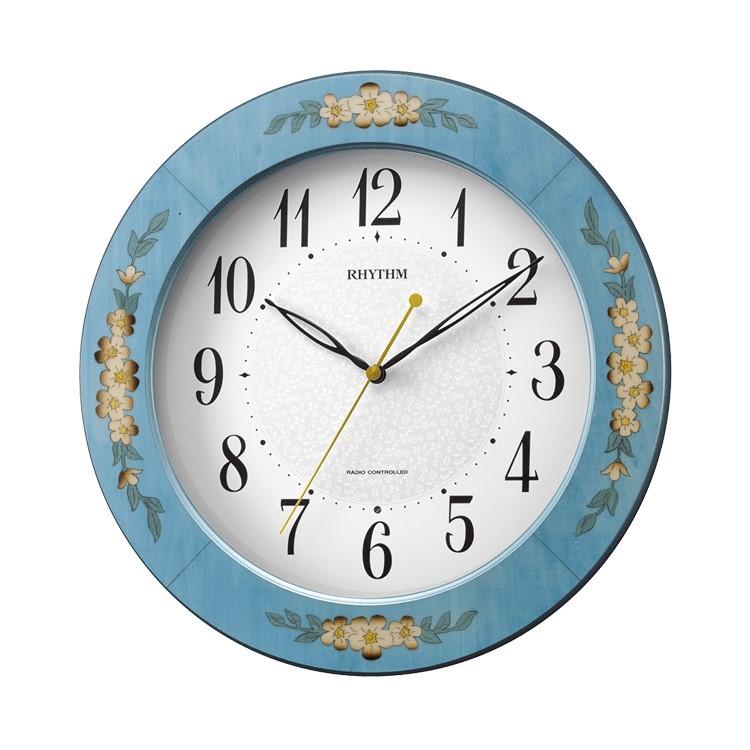 お取り寄せ【北海道・沖縄・離島配送不可】8MY521SR04 電波掛時計 リズム時計 アマービレM521 壁掛け時計 電波時計 電波掛け時計 電波掛時計 壁掛時計 かけ時計 壁掛け電波時計 電波壁掛け