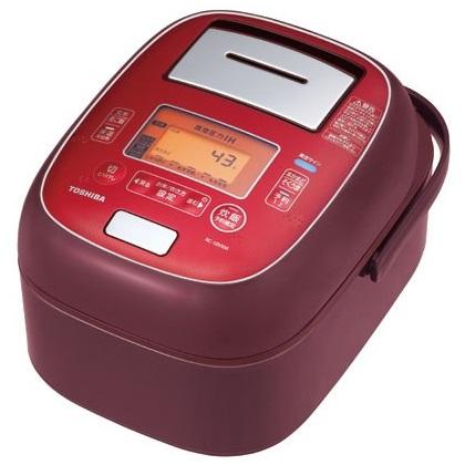 RC-10VXM-RS 真空圧力IH ジャー炊飯器 TOSHIBA 東芝 1.0L(約5.5合) RC10VXMRS ディープレッド 【送料無料(北海道1000円沖縄2000円別途加算)】