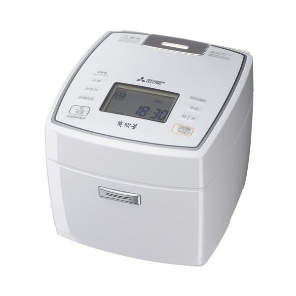 NJ-VVA10-W ジャー炊飯器 MITSUBISHI 三菱電機 備長炭 炭炊釜 5.5合炊き NJVVA10W ピュアホワイト