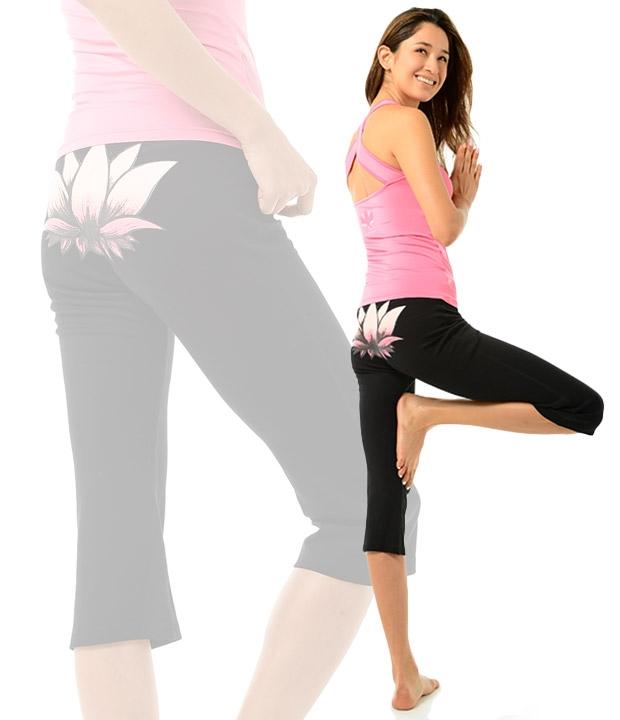 【送料無料】 ヨガウェア 7分丈ロータスフレアパンツ レギンス ボトム ズボン パンツ 単品 スポーツ ルームウェア かわいい 可愛い おしゃれ レディース パジャマ 部屋着 大きいサイズ 女性 大人