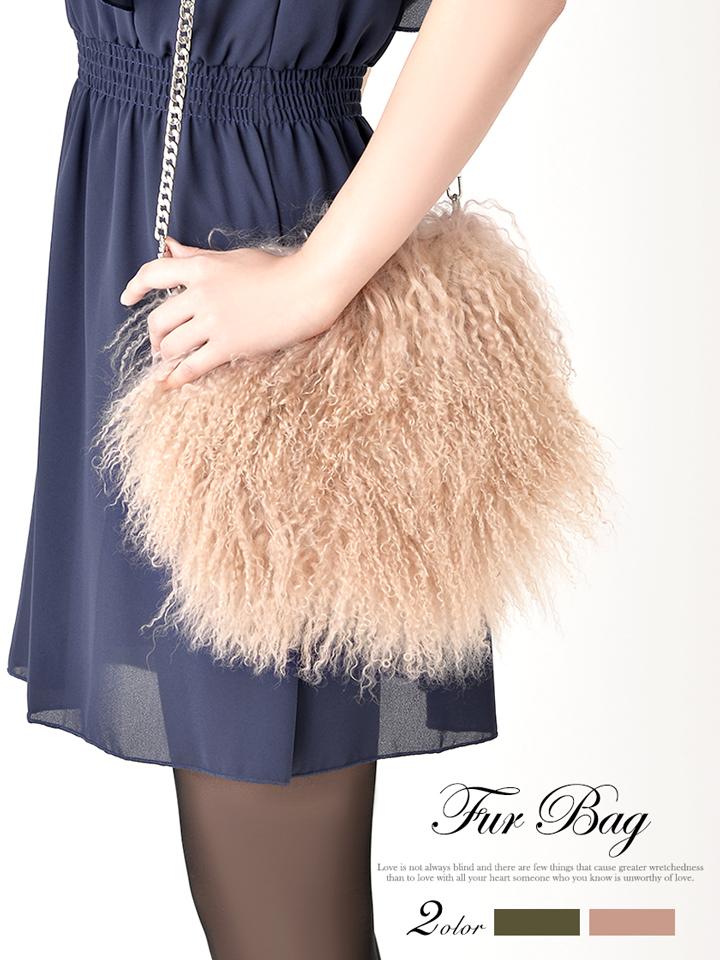 【送料無料】 ショルダーバッグ 2way ウールファーバッグ ピンク カーキ シンプル 無地 バッグ ハンドバッグ カバン 鞄 バック BAG goods デイジーストア