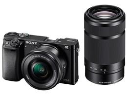 ソニー / SONY ミラーレス一眼カメラ α6000 ILCE-6000Y ダブルズームレンズキット [ブラック] 【デジタル一眼カメラ】