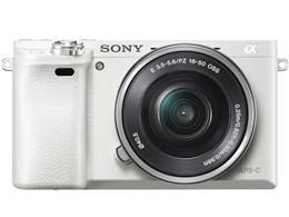 ソニー / SONY ミラーレス一眼カメラ α6000 ILCE-6000L パワーズームレンズキット [ホワイト] 【デジタル一眼カメラ】