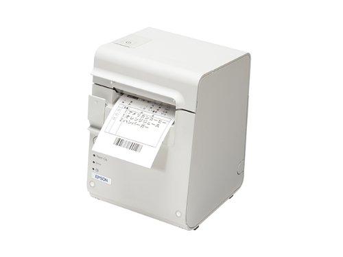 ★セイコーエプソン サーマルレシートプリンター/80mm/有線LAN/電源同梱/クールホワイト TM90KPE551