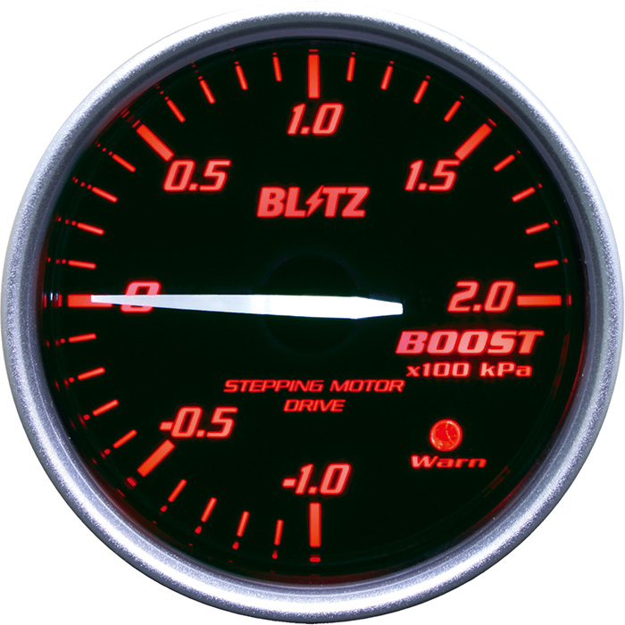 ★□ Blitz / ブリッツ RACING METER SD(レーシングメーターSD) φ52 BOOST METER RED 19591