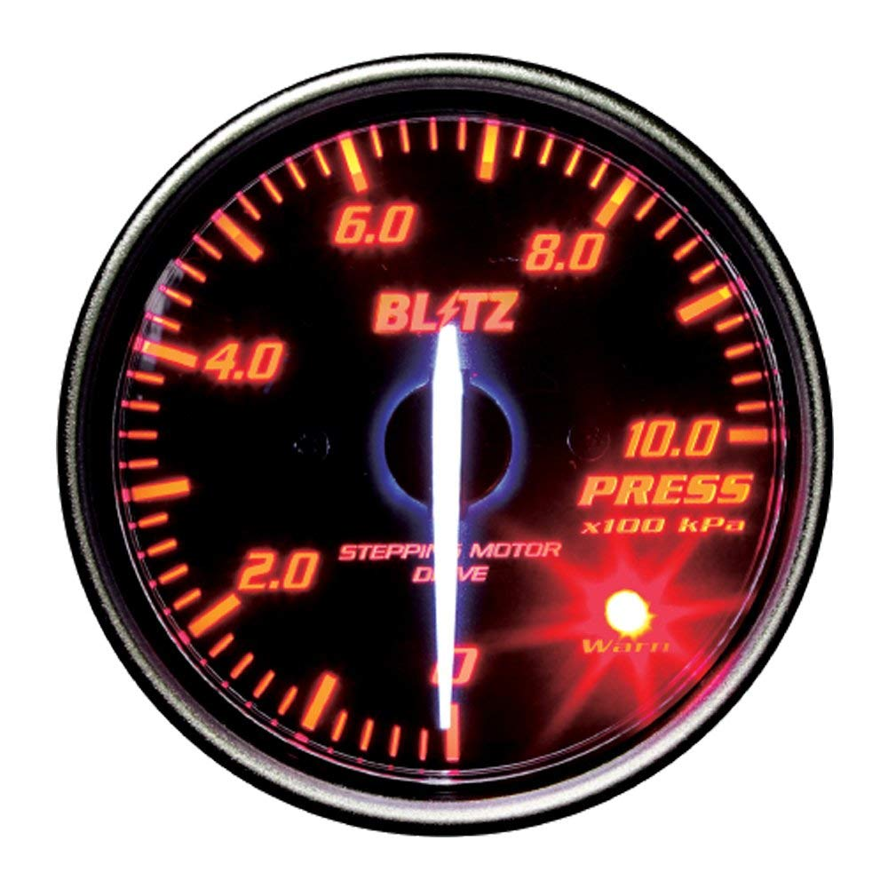 ★□ Blitz / ブリッツ RACING METER SD(レーシングメーターSD) φ52 PRESS METER RED 19594