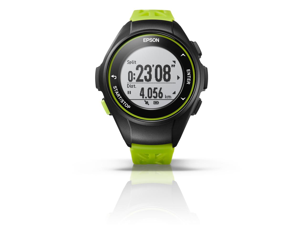 EPSON ランニングウオッチ WristableGPS Q-10G 【グリーン】 【腕時計】【送料無料】
