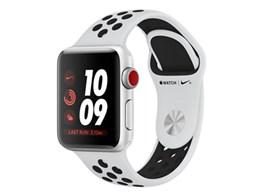 アップル / APPLE Apple Watch Nike+ Series 3 GPS+Cellularモデル 38mm MQM72J/A [ピュアプラチナ/ブラックNikeスポーツバンド] 【ウェアラブル端末・スマートウォッチ】