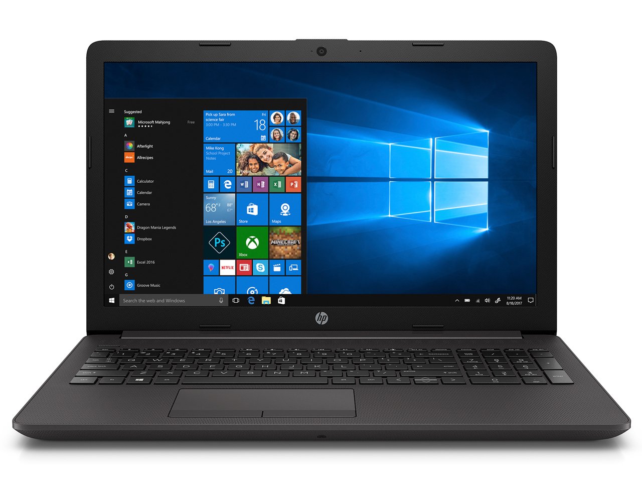 ★HP 250 G7 5KX40AV-AJJO (15.6インチ / Windows 10 Home / Corei3-7020U 2.30GHz / 4GB / 500GB / DVDライター)