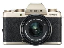 ◎◆ 富士フイルム FUJIFILM X-T100 レンズキット [シャンパンゴールド] 【デジタル一眼カメラ】
