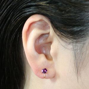 Rhodolite Garnet 5 Miriround Ear Clip Earrings
