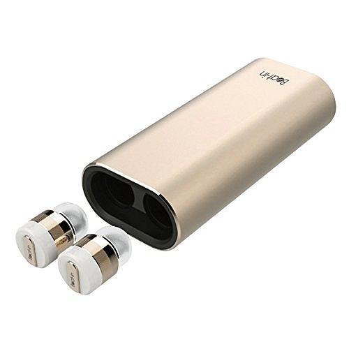 【日本正規代理店品】Beat-in ワイヤレスイヤホン Power Bank(ビートイン パワーバンク) ゴールド モバイルバッテリー付き Bluetooth 4.1対応 左右 完全独立型 超小型 BI9315