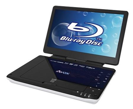 セントレードM.E. AVOX ポータブル ブルーレイディスクプレーヤー 10インチ APBD-1030HW