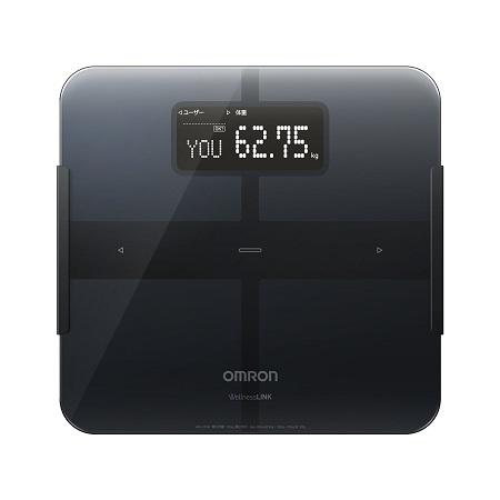 【4月1日限定 カードでエントリー最大ポイント20倍】オムロン 体重体組成計 カラダスキャン HBF-253W-BK