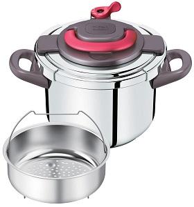 T-fal 圧力鍋 「クリプソ アーチ」 ワンタッチ開閉 IH対応 パプリカレッド 6L P4360732