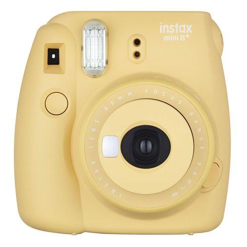 FUJIFILM インスタントカメラ チェキ instax mini8プラス 接写レンズ・純正ハンドストラップ付き ハニー INS MINI 8P HONEY