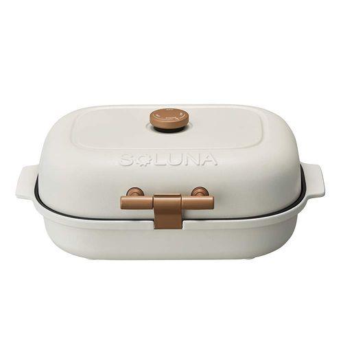 ドウシシャ ホットプレート ホットプレート 焼き芋メーカー ホワイト 3枚プレート付 WFT-103 温度調節機能付き BakeFree ドウシシャ WFT-103, ナトリシ:8e304247 --- sunward.msk.ru