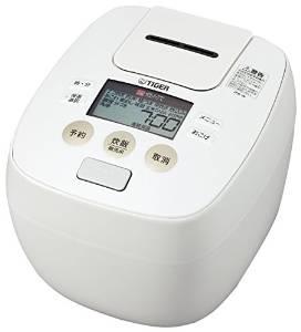 タイガー 炊飯器 圧力IH 「炊きたて」 5.5合 ホワイト JPB-W100-W