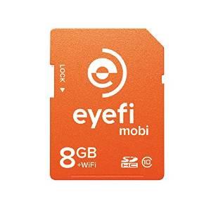 【最大1,200オフクーポン!】ワイヤレスSDHCカード Eyefi Mobi (アイファイ モビ) 8GB Class10 WiFi内蔵 (最新パッケージ版)