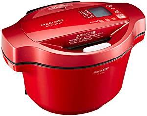 5の倍数日はカードエントリーで5倍/シャープ ヘルシオ(HEALSIO) ホットクック 水なし自動調理鍋 1.6L レッド KN-HT99A-R