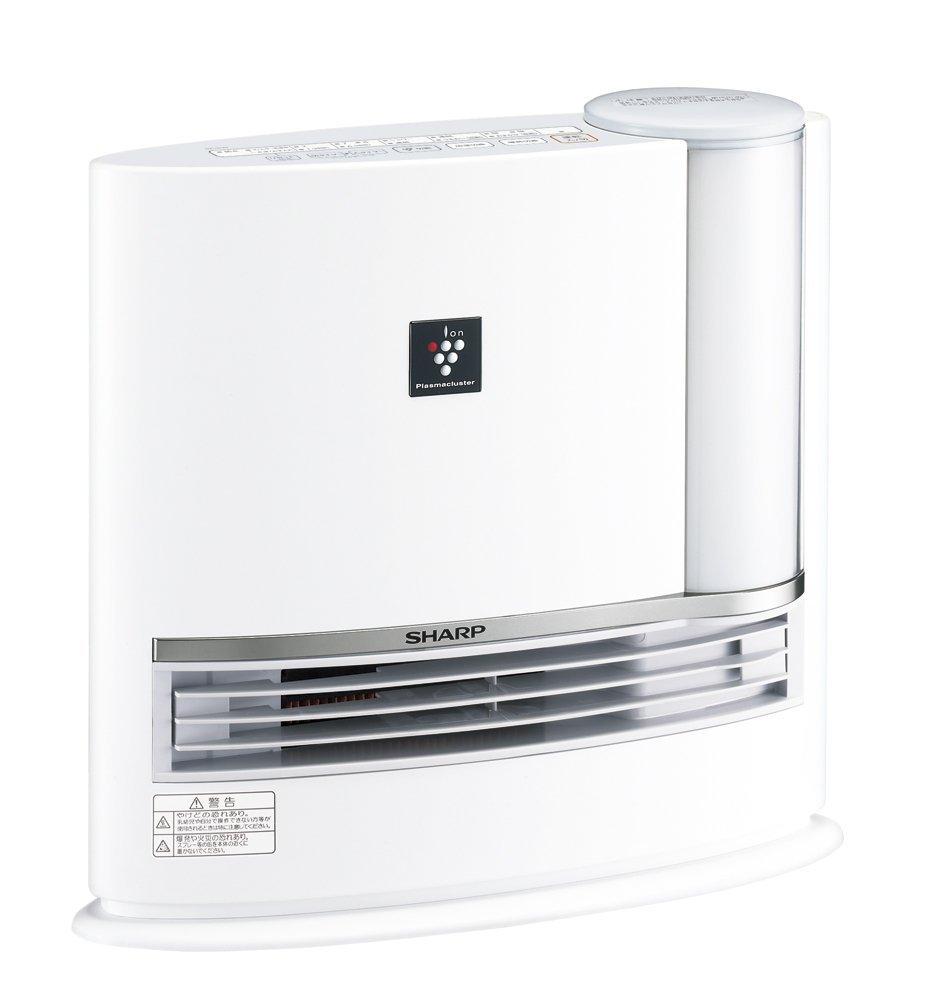 【キャッシュレス5%還元対象】シャープ 加湿セラミックヒーター プラズマクラスター搭載 ホワイト HX-G120-W