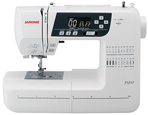 【キャッシュレス5%還元対象】ジャノメ(JANOME) コンピュータ ミシン ワイドテーブル・説明DVD付き JN810