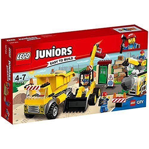 レゴ(LEGO)ジュニア シティ%ダブルクォーテ%工事現場セット%ダブルクォーテ% 10734