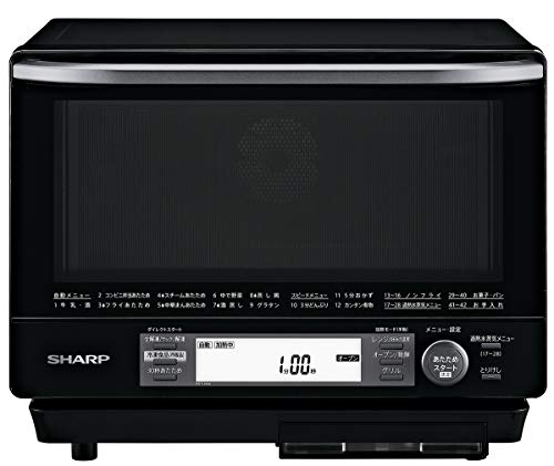 シャープ 過熱水蒸気オーブンレンジ 2段調理 31L ブラック RE-V100A-B