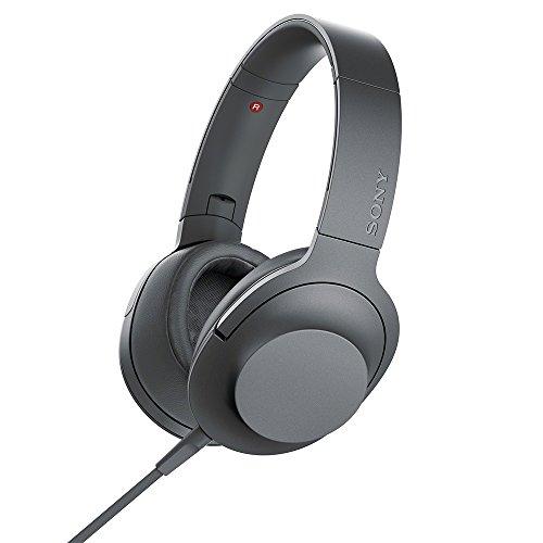 ソニー SONY ヘッドホン h.ear on 2 MDR-H600A : ハイレゾ対応 密閉型 リモコン・マイク付き 2017年モデル グレイッシュブラック MDR-H600A B