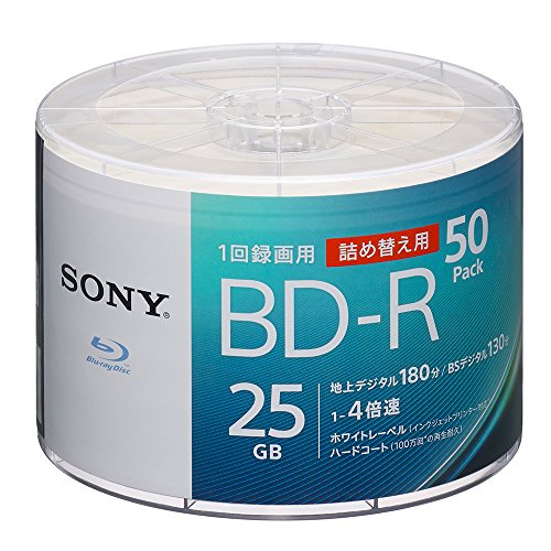ソニー SONY ビデオ用ブルーレイディスク 詰め替えモデル 50BNR1VJPB4 (BD-R 1層:4倍速 50枚バルク)