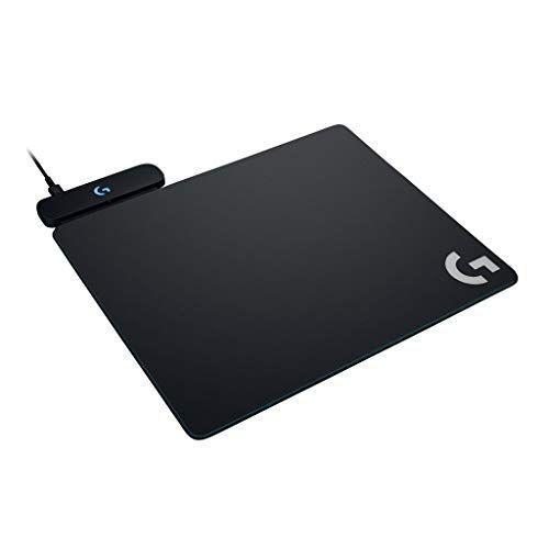Logicool G ゲーミングマウスパット G-PMP-001 ブラック ハート クロス マウスパット同梱 G502WL/G-PPD-002WL/G903h/G903/G703h/G703d ワイヤレス充電対応 POWERPLAY