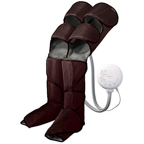 パナソニック エアーマッサージャー レッグリフレ ひざ/太もも巻き対応 温感機能搭載 ダークブラウン EW-RA98-T