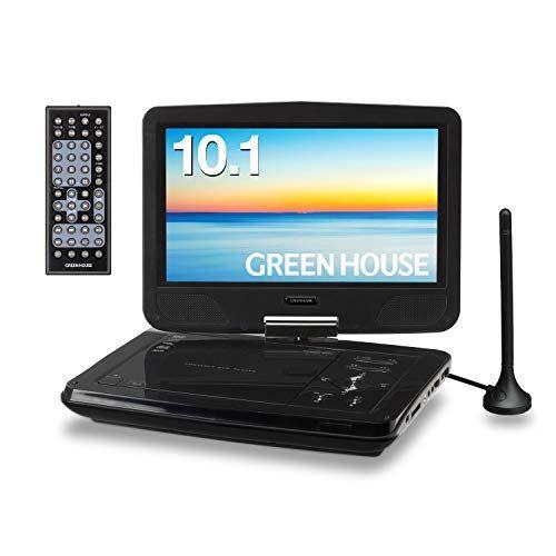 グリーンハウス 10型ワイド ポータブルDVDプレーヤー TVチューナーモデル GH-PDV10MT-BK