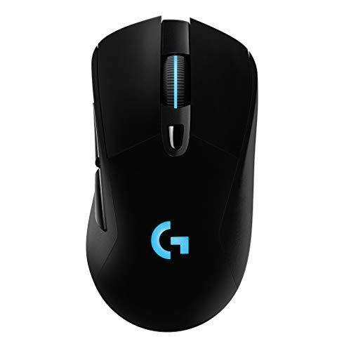 Logicool G ゲーミングマウス ワイヤレス G703h ブラック LIGHTSPEED 無線 エルゴノミクス ゲームマウス HERO16Kセンサー LIGHTSYNC RGB POWERPLAY ワイヤレス充電 G703 国内正規品 2年間メーカー保証