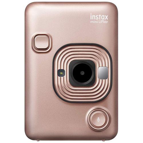 FUJIFILM チェキカメラ ハイブリッドインスタントカメラ instax mini LiPlay ブラッシュゴールド[-]