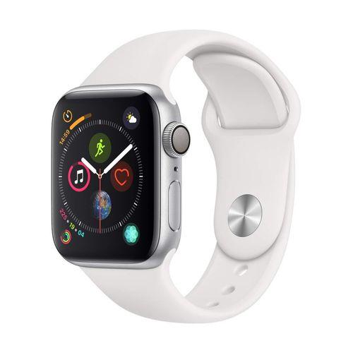 Apple Watch Series 4 40mm シルバーアルミ ホワイトスポーツ GPS
