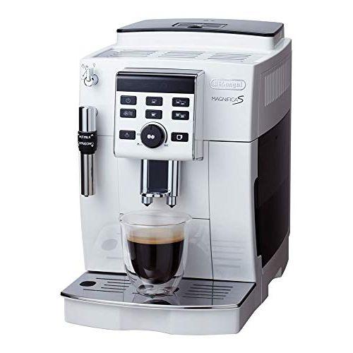 【スタンダードモデル】デロンギ コンパクト全自動コーヒーマシン マグニフィカS ホワイト ECAM23120WN