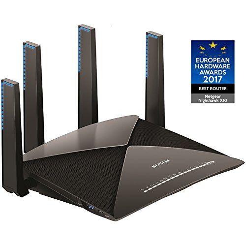NETGEAR WiFi 無線LAN ルーター AD7200 接続台数 72台 トライバンド NighthawkX10 R9000-100JPS