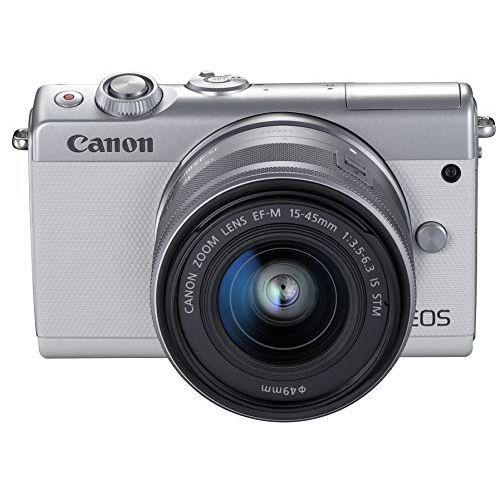 Canon ミラーレス一眼カメラ EOS M100 EF-M15-45 IS STM レンズキット(ホワイト) EOSM100WH1545ISSTMLK