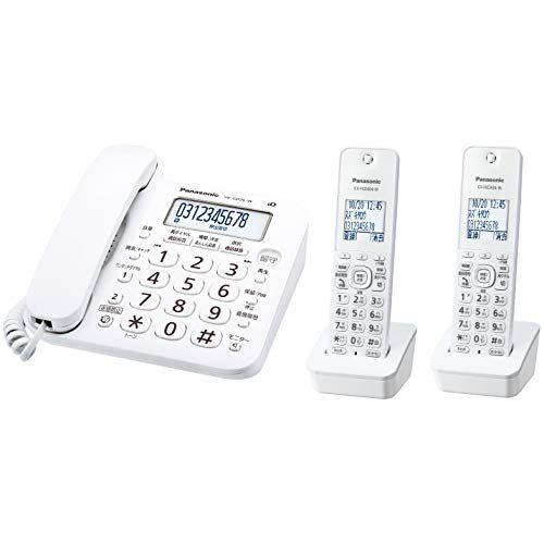 パナソニック RU・RU・RU デジタルコードレス電話機 子機2台付き 1.9GHz DECT準拠方式 ホワイト VE-GD26DW-W