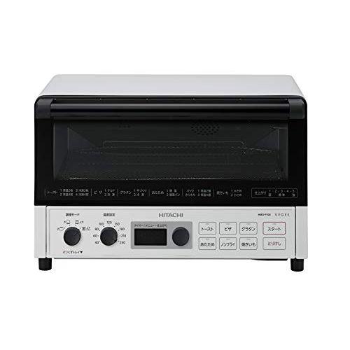 日立 コンベクションオーブントースター 1%カンマ%300W 4枚焼き 遠赤ヒーター オートメニュー HMO-F100 W