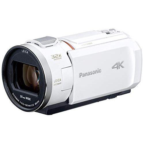 パナソニック 4K ビデオカメラ VZX2M 64GB 光学24倍ズーム ピュアホワイト HC-VZX2M-W
