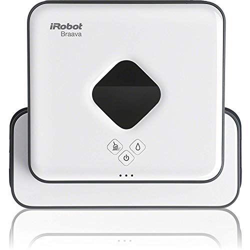 ブラーバ 390j アイロボット 床拭きロボット 水拭き 雑巾かけ 静音 洗剤付き 選べる2つのモード 落下防止 花粉対策に ホワイト B390060