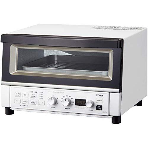 タイガー オーブントースター 温度調節機能 30分タイマー フライあたため トースト3枚 1300W マッドホワイト KAT-A130