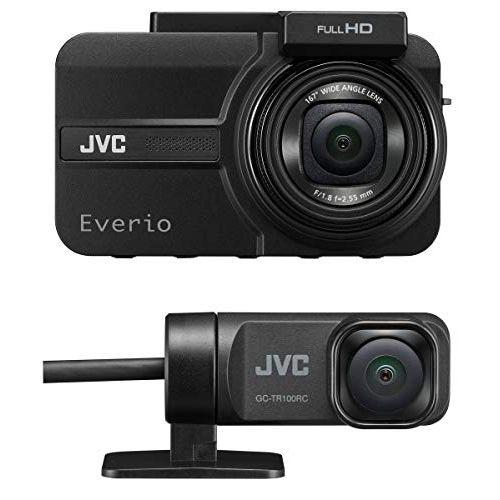 JVC KENWOOD GC-TR100-B 前後撮影対応2カメラドライブレコーダー Everio フルハイビジョン GPS搭載 WDR microSDHCカード付属 ブラック